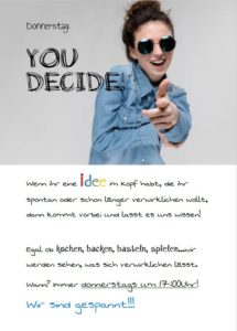 Donnerstag You-decide