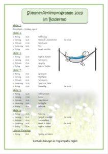 Programm Sommerferien